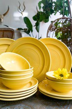 Yellow Kitchen Accessories, Yellow Kitchen Decor, Yellow Dinnerware, Dinnerware Sets, Plates And Bowls, Salad Plates, Soup Bowls, Kitchen Items, Kitchen Stuff