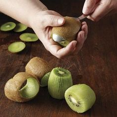 A Better Way to Peel a Kiwi...and other helpful hints from Fine Cooking.