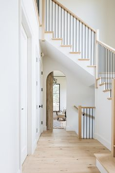 The Top Staircase Railing Inspiration Photos We're Using to Design Ours. The Top Staircase Railing Inspiration Photos We're Using to Design Ours. Home Design, Interior Design Trends, Floor Design, Design Ideas, Design Inspiration, Staircase Railings, Staircase Design, Stairways, House Staircase