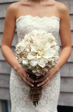 Rustic & Vintage Wedding Bouquet. $100.00, via Etsy.
