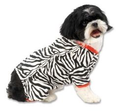 Zebra Buzz Dog Pajamas Medium by PET RAGEOUS DESIGNS  SALE♥  Available at BuyDogSweaters.com