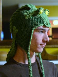 Uncinetto cappello alligatore di aStitchSouth su Etsy