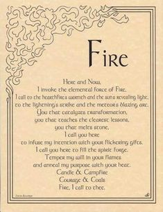 fire water Magic earth air Paganism wiccan pagan wicca elements book of shadows invocation Witch Spell Book, Witchcraft Spell Books, Magick Spells, Pagan Witchcraft, Wicca Runes, Wiccan Books, Wiccan Rituals, Pagan Quotes, 5 Elements