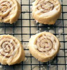 Cinnamon Roll Cookies ~ Heat Oven to 350. Leave egg out and try using some ghee or extra butter.