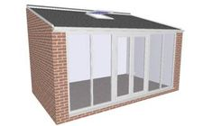lean to Garden room Lean to prefabricated home extension kit Prefab Extensions, House Extensions, Cheap Prefab Homes, Affordable Prefab Homes, House Extension Design, Extension Designs, Extension Ideas, Lean To Conservatory, Gardens