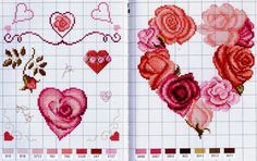 cross stitch hearts -  Gallery.ru / Фото #39 - Coeurs - Mongia