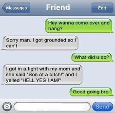 Awesome Comeback – Too Bad You've Been Grounded / YouMoron -