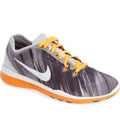Women's Nike 'Free 5.0 TR Fit 5 Print' Training Shoe, Size 7.5 M - Orange