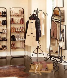 Show racks! Every closet needs them. #potterybarn