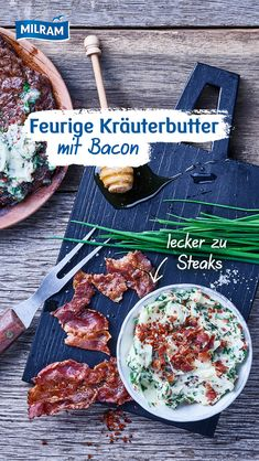 Bacon, Steak Bites, Herb Butter, Cooking Recipes, Healthy Recipes, Food Now, Finger Foods, Smoothie Recipes, Food Inspiration