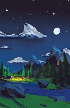 A Simple Night by calder | Abstract | 3D | CGSociety