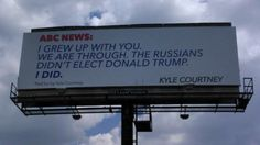 Boerne, Texas resident Kyle Courtney is sending a message to ABC News and he nailed what so many people think… Literally, on a huge billboard that went up this week on Interstate 10 and Bucks…