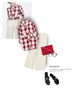 """Plaid Shirt"" by magdafunk ❤ liked on Polyvore featuring Zara, All Tomorrow's Parties, Marni, Spitfire, Summer, zara, redbag, plaidshirt and culottes"