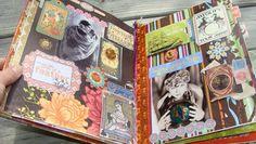 Gyspy BOHO collage art photo album by madhattresscreations
