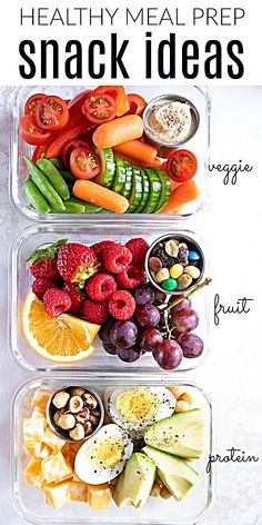 Eating healthy on-the-go has never been easier with these delicious, colorful, and nutritious Meal Prep Snack Ideas. Eating healthy on-the-go has never been easier with these delicious, colorful, and nutritious Meal Prep Snack Ideas. Lunch Meal Prep, Healthy Meal Prep, Healthy Drinks, Meal Prep Dinner Ideas, Healthy Nutrition, Healthy Weekend Meals, Lunch Ideas, Snack Ideas For Kids, Daily Meal Prep