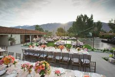 Wedding Reception at Smoke Tree Ranch, Palm Springs Wedding - Planned by Laurie Lund of the Events Department - Floral & Decor by LMD Lewis Miller Designs - Photo by Amy & Stuart Photography