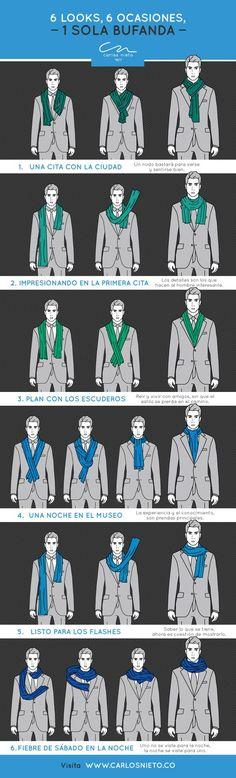 Con una sola bufanda puedes lograr estos 6 increíbles looks