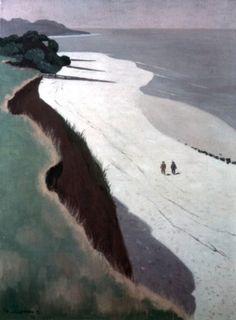 Felix Valotton  La Falaise et la grève blanche, c. 1913