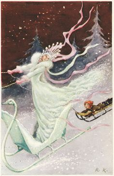 Illustrated by Rudolf Koivu, 1940 H.C. Andersen: The Snow Queen. Rudolf Koivu was Finnish artist, who mainly illustrated fairy tales.