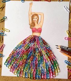 Drawing artwork - 50 creative and funny drawings and artwork ideas for your inspiration Arte Fashion, Fashion Collage, Fashion Design Drawings, Fashion Sketches, Fashion Illustrations, Funny Drawings, Art Drawings, Art Diy, Creative Artwork