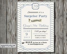 Items Similar To Male Surprise Birthday Invitation Printable Party Invitations For Men