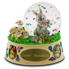 Bambi Rabbits Disney Snowglobe