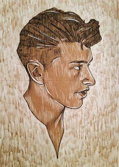 Alex Turner / Arctic Monkeys  Illustration Print  by SixtyAndFour, $10.00