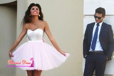 Find More Prom Dresses Information about Fast Shipping Sweetheart Sequins A line Pink Short Prom Dresses Custom Made Cheap Celebrity Party Gowns 2015 Vestido De Renda,High Quality Prom Dresses from BEW wedding Store on Aliexpress.com