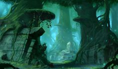 Inside the Forest - Part II by *Blinck on deviantART very ancient mysterious seeming.