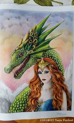Coloring by fans. Fantasy Kingdom. Grayscale Adult coloring book by Alena Lazareva.  http://www.amazon.com/dp/1535185953 #alenalazareva #coloring #colouring #book #coloringbook #coloringbookforadult #adultcoloring #colorist #adultcoloringbook #colouringbook #grayscalecolouring #grayscale #grayscalecoloringbook #grayscalecoloring