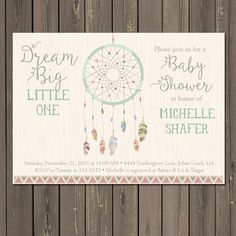 Free printable baby shower invitations for freeeeee pinterest dream catcher baby shower invitation tribal boho shower invite feather baby shower bohemian themed invitation gender neutral the latest in bohemian filmwisefo