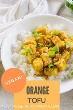 This is a delicious Vegetarian and Gluten Free recipe the entire family will love! #orangetofu #veganorangechicken #vegantofu #tofurecipe Tofu Recipes, Gluten Free Recipes, How To Press Tofu, Crispy Tofu, Orange Chicken, Good Food, Vegetarian, Tasty, Snacks