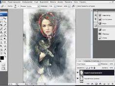 Уроки фотошоп - рамка из инея (photoshop lessons) - YouTube