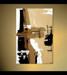 Contemporary Abstract Acrylic Painting Brown by OsnatFineArt