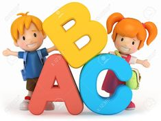children Learning Clipart - render of school kids with ABC School Board Decoration, School Decorations, Preschool Writing, Preschool Worksheets, School Cartoon, Cartoon Kids, Childrens Logo, Kids Background, English Lessons For Kids