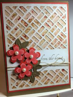 May 2016 Paper Pumpkin alternative with lattice. True Thyme and Poppy **photo only