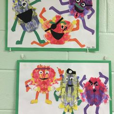 #symetrical #colors #paint #paintmonsters #kidsart #3rdgrade #elementary