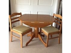 Round Drop Leaf Table Chairs Dundee Picture 1