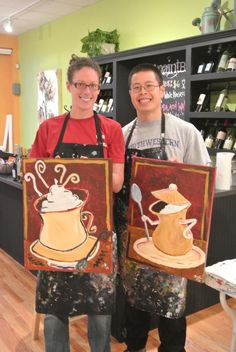 Gotta love the Hot Chocolate painting on the right!