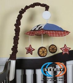 $24.99-$49.99 Baby GEENNY Musical Mobile For Boutique Horse Cowboy 13 PCS Crib Bedding Set - This Ad is for a GEENNY Designs Children's Musical Mobile which is especially designed to coordinate with their nursery bedding sets to help complete the look & feel of the entire bedroom theme for your kid. The lamp base is not included. You will receive one http://www.amazon.com/dp/B00337Y9IG/?tag=pin2baby-20