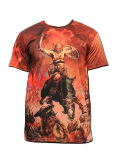 'Conan The Conqueror' T-Shirt Conan The Conqueror, You Look Fab, Cool Shirts, Cool Outfits, Cool Stuff, Mens Tops, T Shirt, Clothes, Art Gallery