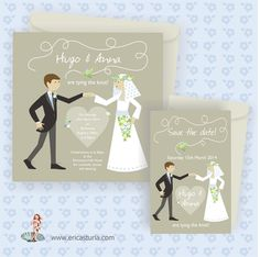 Fun Wedding Invitation designed by Erica from Worthing