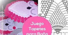 Cómo tejer juego de tapetes para baño paso a paso en video con diseño de búhos