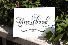 Guestbook Wedding Signage INSTANT DOWNLOAD by OverTheMoonBridal