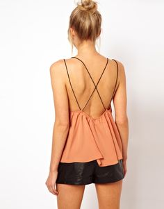 ASOS Cami With Contrast Skinny Straps
