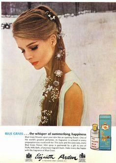 Blue Grass by Elizabeth Arden in a 1967 ad