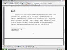 Jak vytvořit obsah we wordu.avi - YouTube