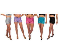Rhonda Shear 5-Pack Lace Mesh Dot Pin Up Girl Panty