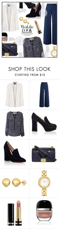 """""""WORK IT!!!"""" by jckallan ❤ liked on Polyvore featuring Armani Jeans, RED Valentino, MICHAEL Michael Kors, Gianvito Rossi, Chanel, Fendi, Gucci, Marc Jacobs, WorkWear and chic"""