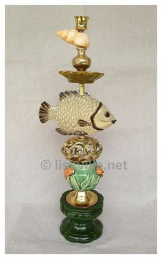 OCEAN Treasure Stick  FUN WHIMSICAL candlestick made by Lisaville, $149.00
